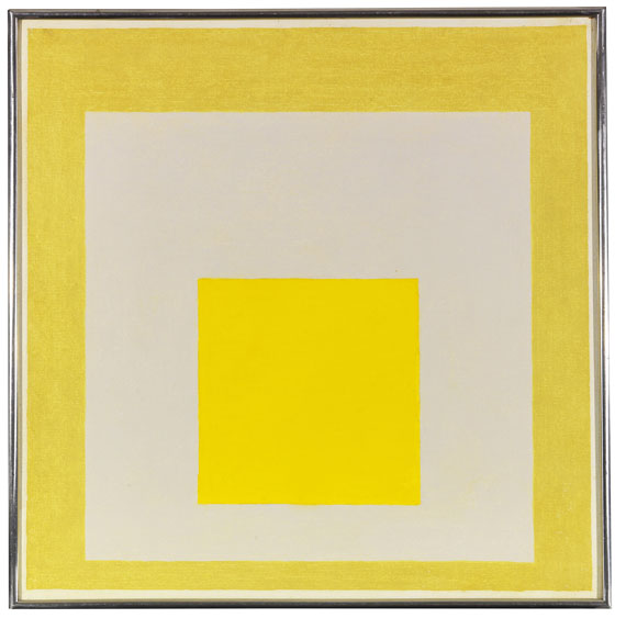 Albers - Study for Homage to the Square: Two Yellows with Silvergray